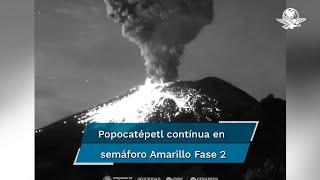 La explosión de esta mañana se suma a otra que se registró después de las 11 de la noche del martes que generó una columna de vapor, gases y bajo contenido de ceniza con mil 500 metros de altura