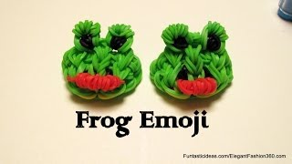 Rainbow Loom Frog Emoji/Emoticon charm - How to