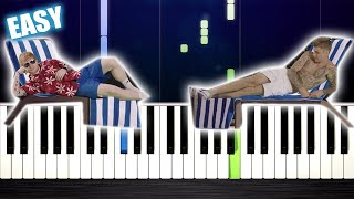 Baixar Ed Sheeran & Justin Bieber - I Don't Care - EASY Piano Tutorial by PlutaX