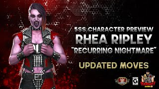 """Character Preview: Rhea Ripley """"Recurring Nightmare"""" Gameplay WITH Updated Moves! / WWE Champions 😺 screenshot 1"""