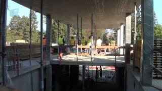 Hrubá stavba krytého bazénu je hotova