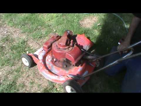 Old Toro Wind to Start lawn mower