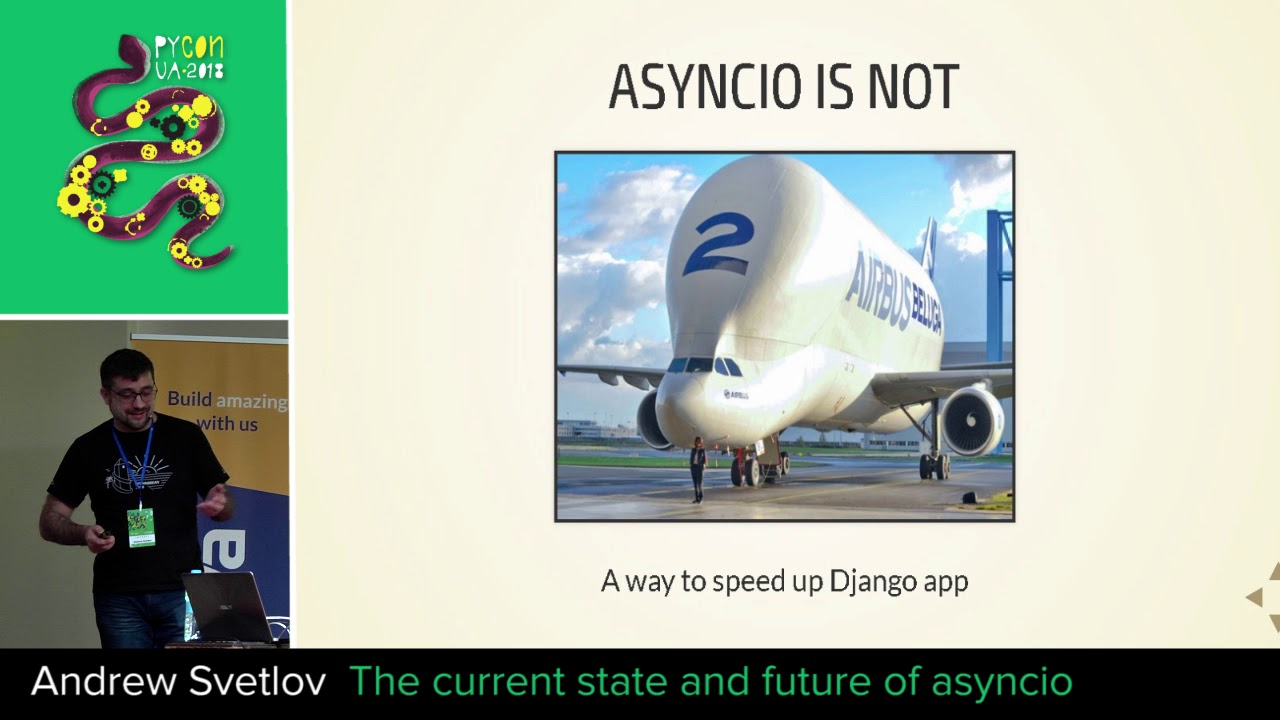Image from The current state and future of asyncio