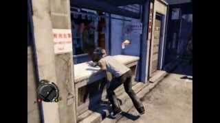 Sleeping Dogs [PC] Gameplay - Free Roam (Day) (Bike Stunts,Hitting Pedestrians etc)