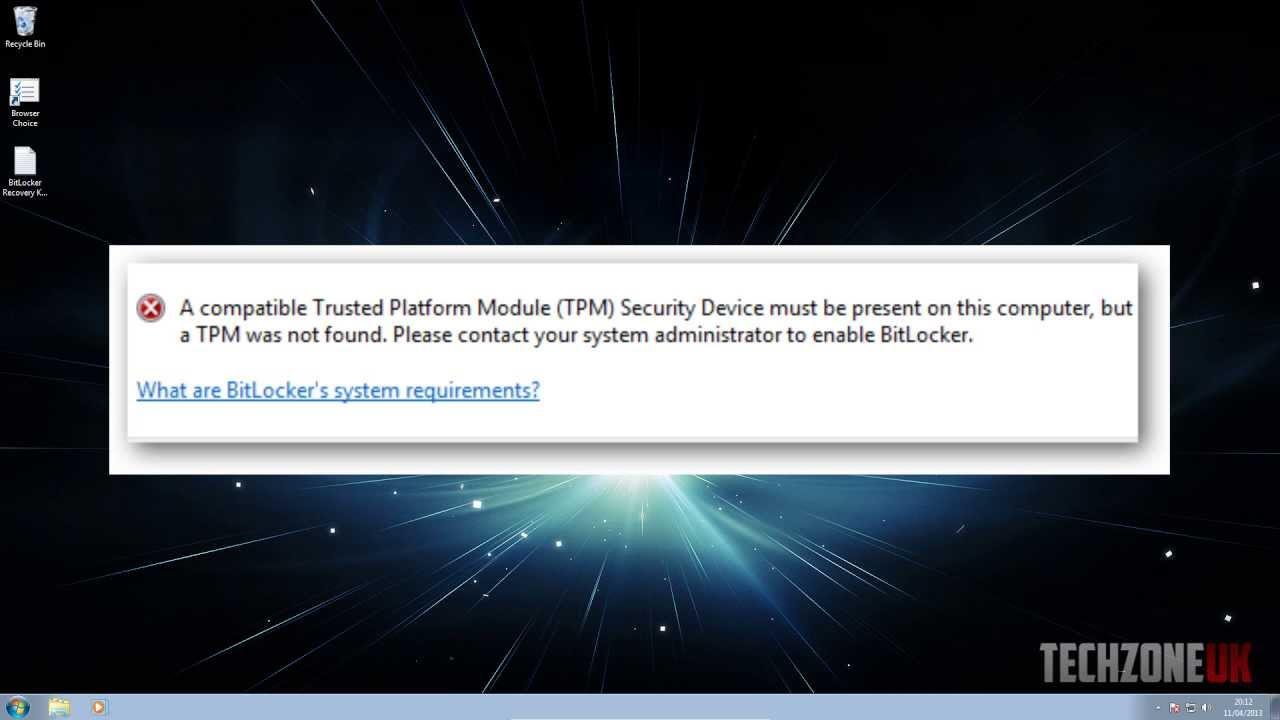 Get around TPM error (BitLocker)