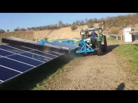 The SunBrush in action as used by Solar Park Cleaning UK