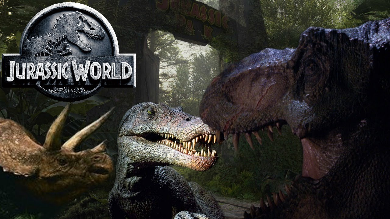 every dinosaur that was created for jurassic park and jurassic world