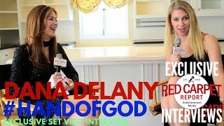 """Dana Delany interviewed at """"Hand of God"""" S2 Set Visit Watch 3/10 on Amazon"""