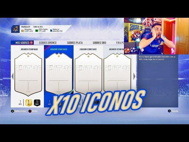 ABRO 10 SOBRES DE ICONO ASEGURADO !!!! BOOOOOM... FIFA 19