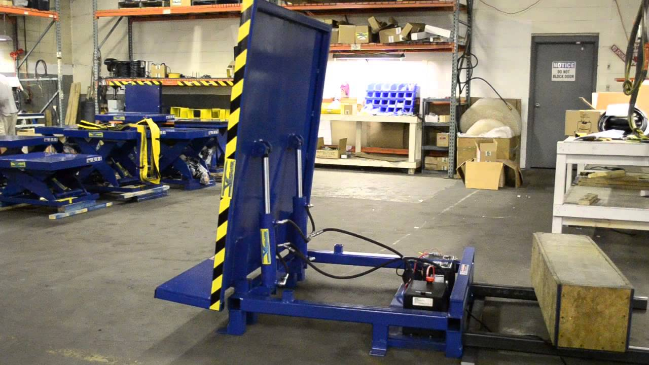VERTI LIFT HYDRAULIC TILT TABLE 90 DEGREE YouTube