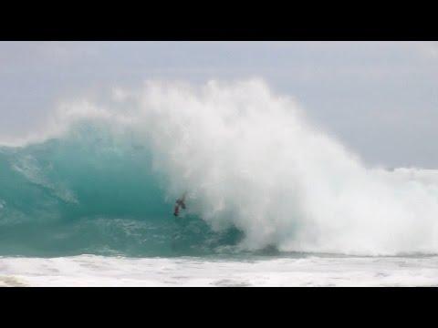Sandy Beach bodyboarding - adrenaline rush