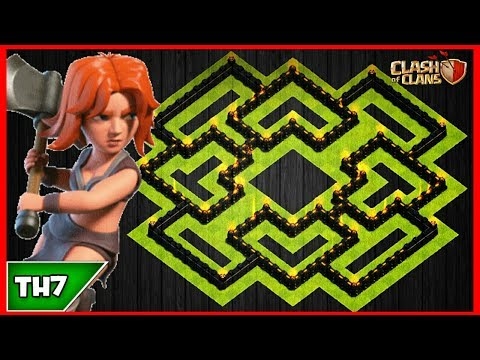 NEW TOWN HALL 7 FARMING/TROPHY BASE 2017! TH7 HYBRID FARM BASE JULY UPDATED!! - CLASH OF CLANS(COC)