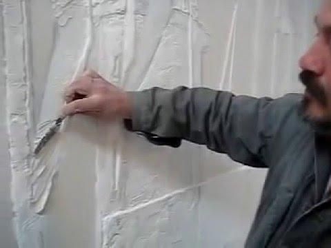 Как создавать декоративный барельеф на стене при помощи мастехина.