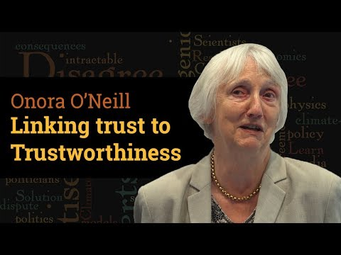 Linking Trust to Trustworthiness | Prof Onora O'Neill (2017)