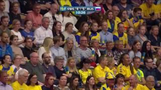 Гандбол.06/05/2017 Швеция - Россия. Ответная игра 1 тайм ! Отбор на Евро 2018