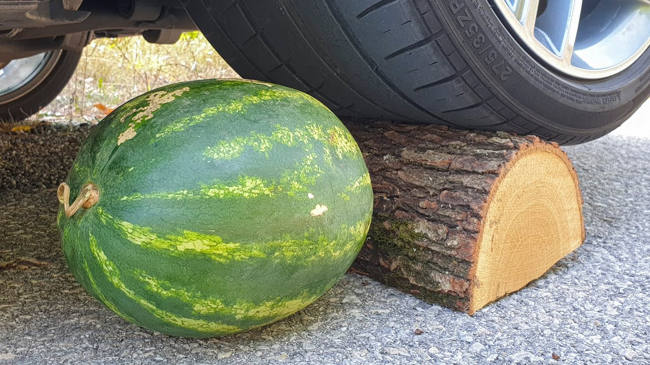Crushing Crunchy & Soft Things by Car! EXPERIMENT CAR vs WATERMELON
