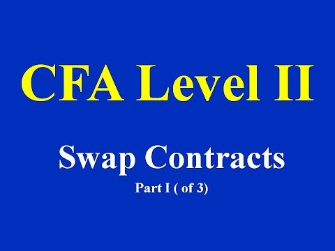 CFA Level II  Swap Contracts  Part I (of 3)