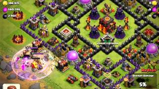 AMAZING Clash of clans raid, Tran Khai attacks!