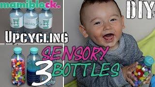 DIY Sensory Bottles | Upcycling | 3 baby toys | Spielerisch fördern | mamiblock - Der Mami Blog