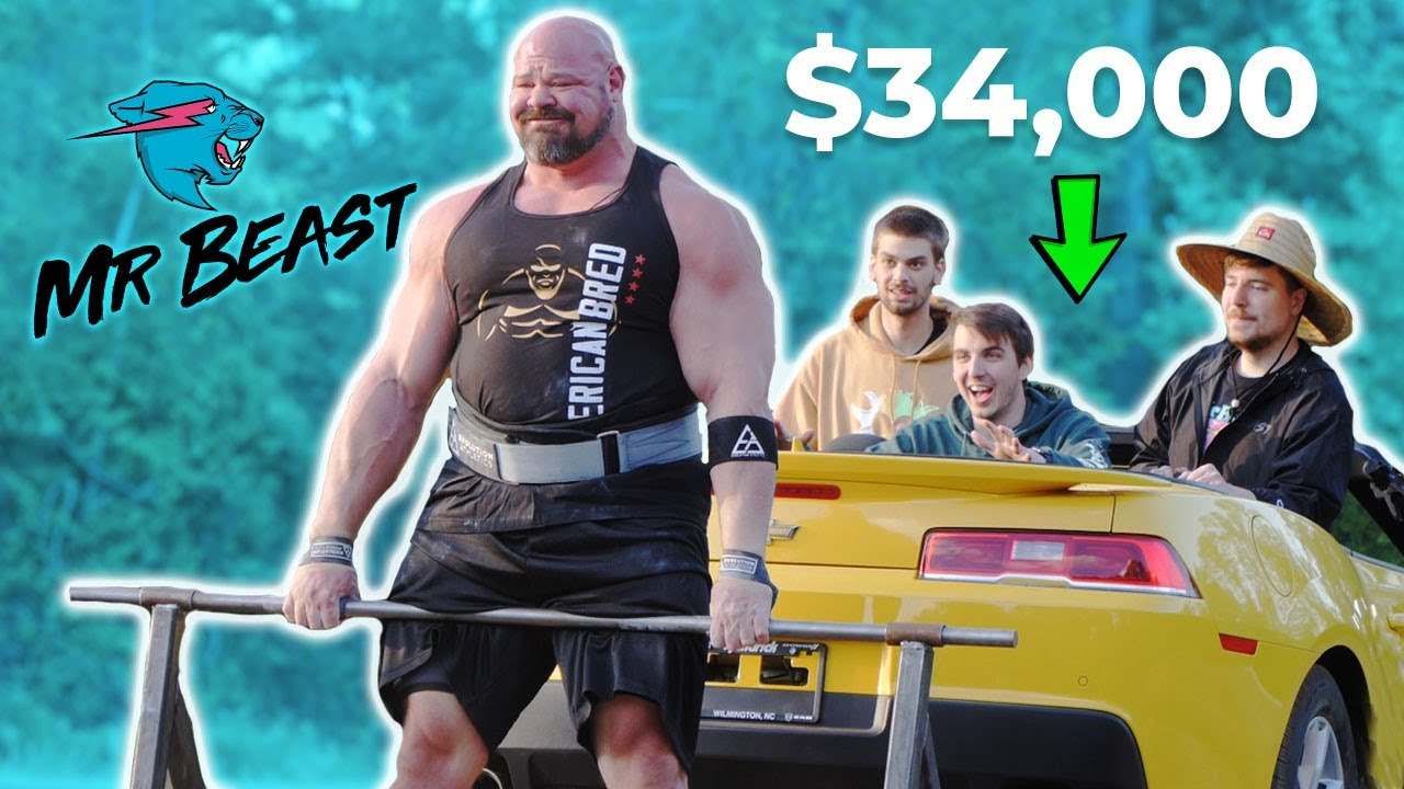Download IF YOU DEADLIFT THE CAR YOU KEEP IT! *$34,000*   MrBEAST BTS
