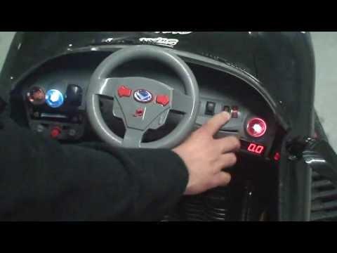 Ride On Car Ferrari Style 6v And 12v Speed Meter Youtube