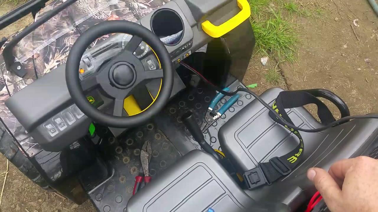 Peg Perego Gator Xuv 550 Wiring Diagram 1989 Toyota Corolla Carburetor Battery Mod For The John Deere Youtube