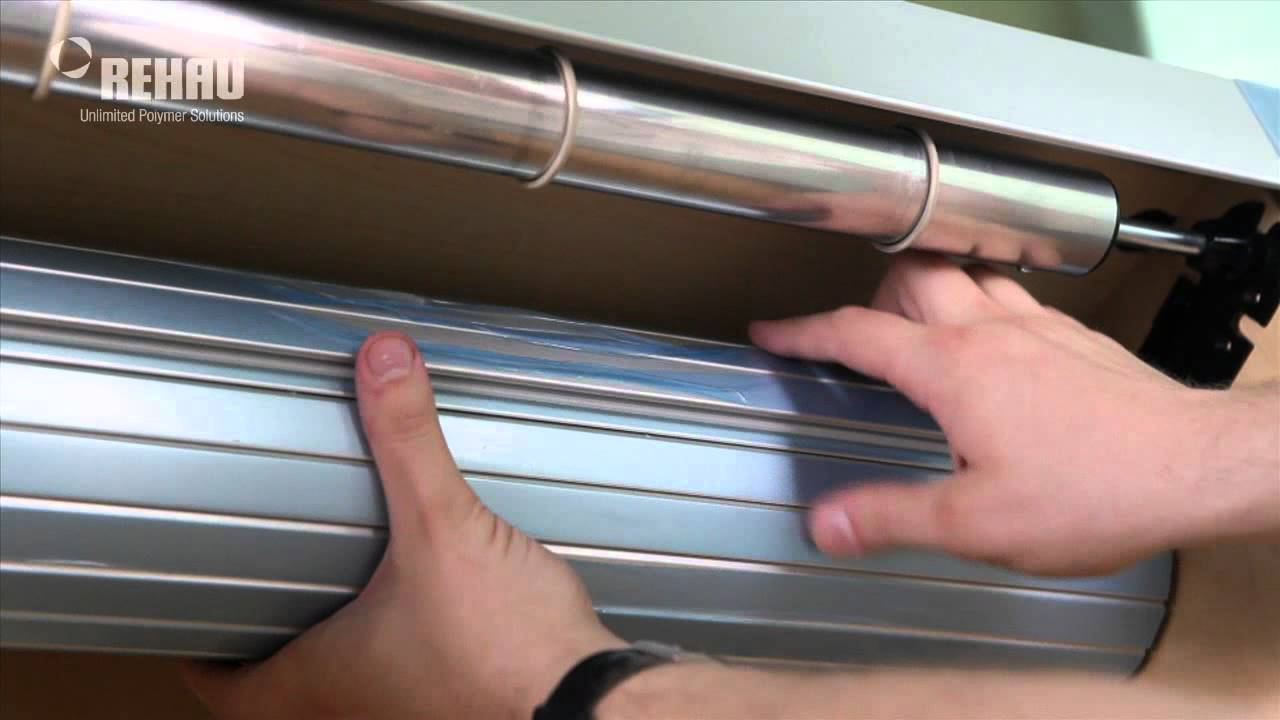 Roller Shutter Kitchen Doors C3 Tambour Door Foiled Face Track Youtube