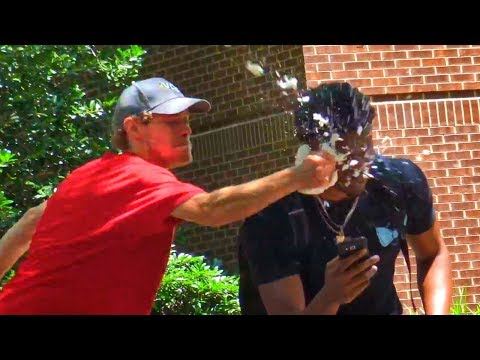 Pie Balloon in the Face Prank (Funny Video)
