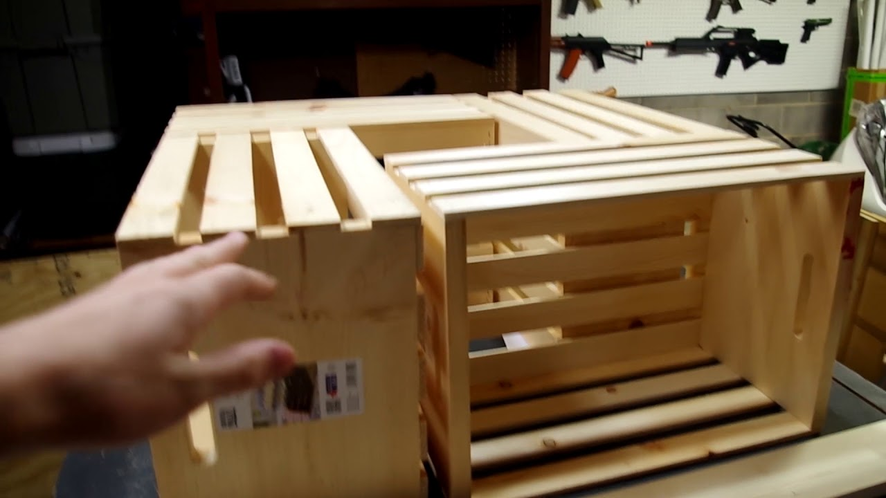 Easy To Build Coffee Table.Easy Diy Coffee Table Made From Wooden Crates