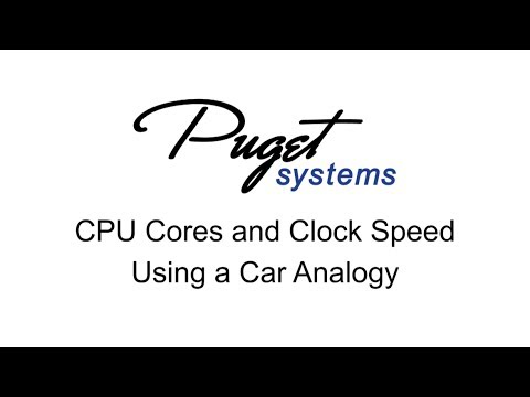 CPU Cores and Clock Speed - A Car Analogy