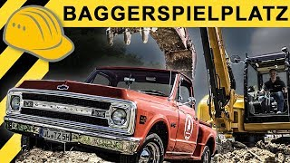 Baustellen Doku:: Der Bagger & der 69er Chevy Pickup | Zeppelin Rental ON THE JOB