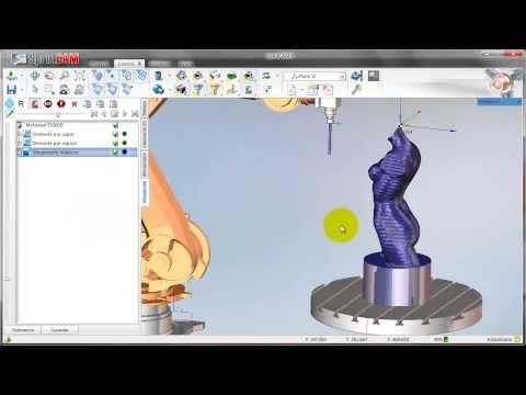 SprutCAM Robot mecanizado con Yaskawa Motoman de escultura femenina