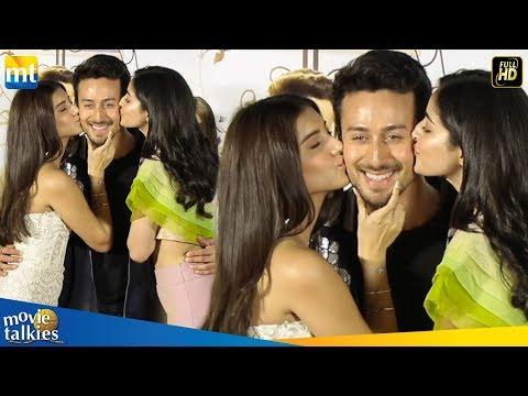 Ananya Pandey & Tara Sutaria KISSING Tiger Shroff At Student of the Year 2 Trailer Launch