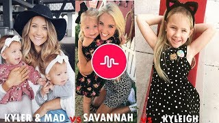 Kyler and Mad Vs Savannah Soutas Vs Kyleigh Nichole - Musically Challenge October 2017