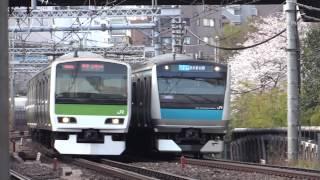 Repeat youtube video E231系山手線・E233系京浜東北線の並走