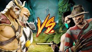 Mortal Kombat Komplete Edition   Emperor Shao Kahn And Blaze Tag Ladder 4K Gameplay Playthrough