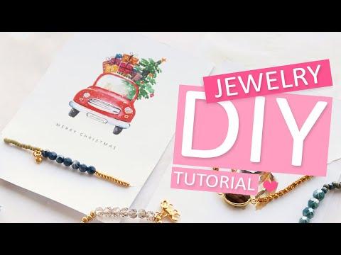 DIY Tutorial – DIY Schmuck Karten für Weihnachten– Selbst Schmuck machen