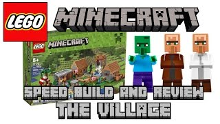 Lego Minecraft The Village 21128 Unboxing and Speed Build Review