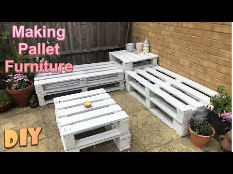 how-to-make-garden-furniture-from-pallets-//-diy-garden