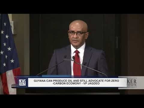 GUYANA CAN PRODUCE OIL AND STILL ADVOCATE FOR ZERO CARBON ECOMONY   VP JAGDEO