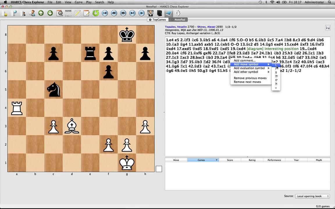 Mac Chess Explorer - Game Notation