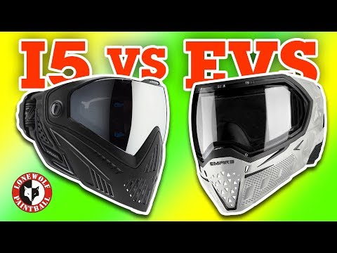 DYE i5 vs Empire EVS Paintball Mask Goggle Comparison | Lone Wolf Paintball Michigan