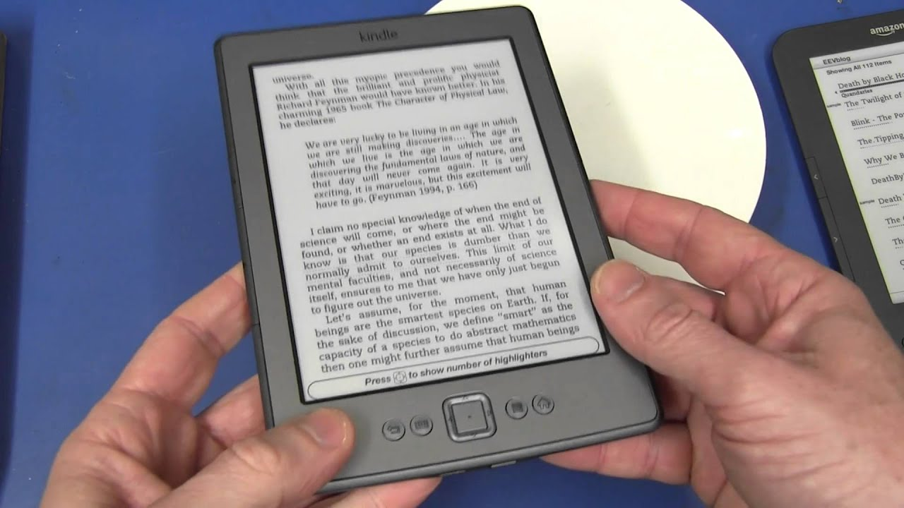 Amazon Kindle 4 Review & Unboxing - EEVblog #205