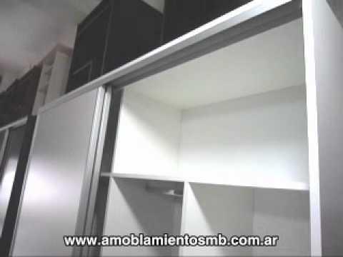 Placard Con Perfil De Aluminio Puertas Corredizas Plga03
