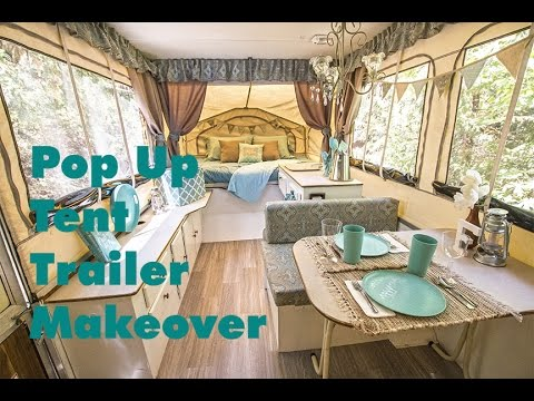 pup pop up tent trailer camper makeover redo rockwood tour 2016