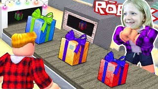 Opened a factory in ROBLOX! Help Santa Claus for a new year of FFGTV children's Letsplej