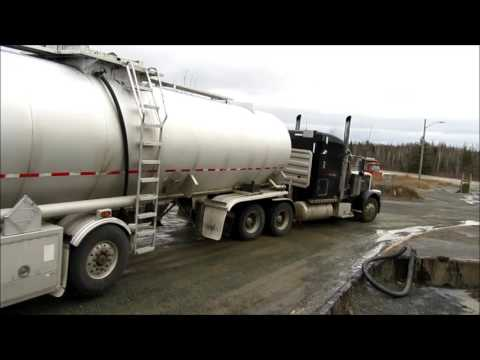 Peterbilt with Asphalt Tanker