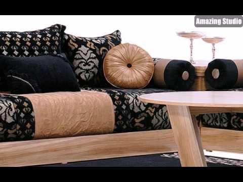 Marokkanische Möbel marokkanische möbel sofa in beige und schwarz