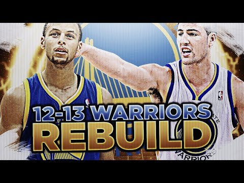 PRE-SUPER TEAM! '12-'13 GS WARRIORS REBUILD! NBA 2K18