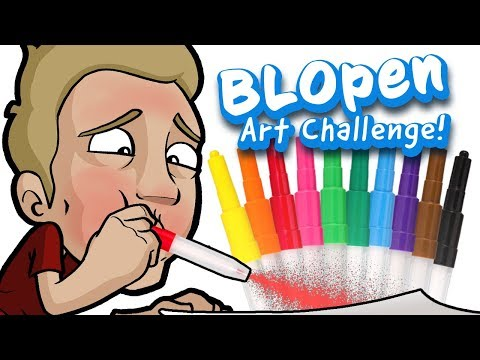 Blow Pen Art Challenge Drawing With Jazza